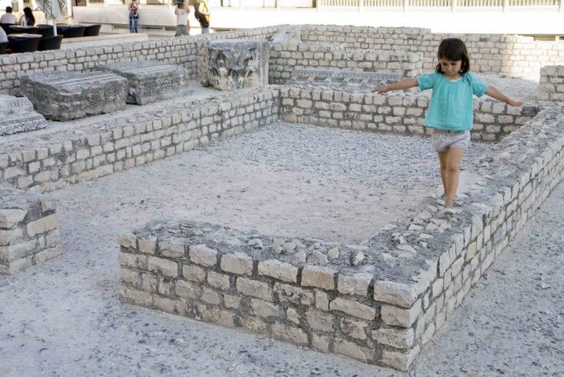 Ruinas frente a la catedral de Zadar