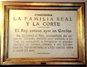 Parador de Gredos cuadro Alfonso XIII blog