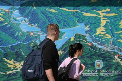 Plano del parque nacional de Plitvice