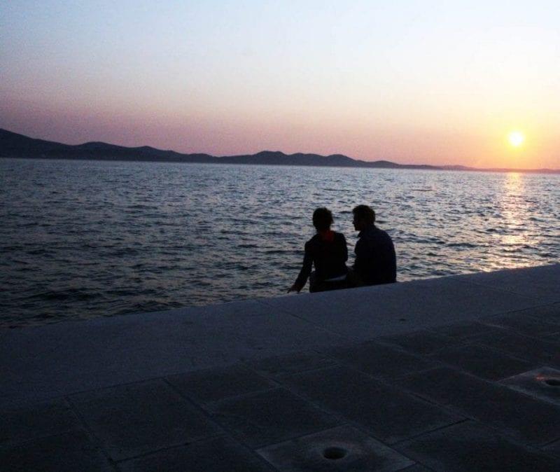 Más estampas del mágico atardecer de Zadar