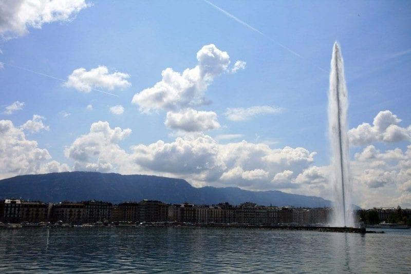 El geiser del lago Leman es el emblema de la ciudad
