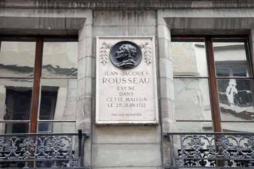 Ginebra placa casa natal Rousseau