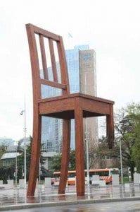 Ginebra plaza de las naciones silla
