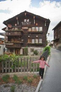Detalle de Grächen, en Suiza