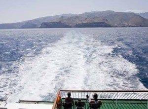 foto panoramica de La Gomera desde el Ferry