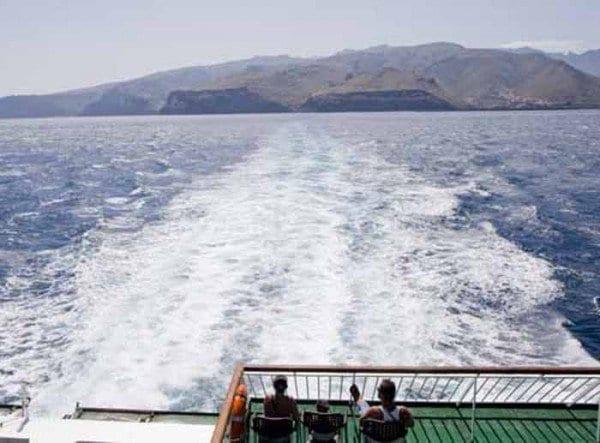 Panorámica de La Gomera desde el ferry