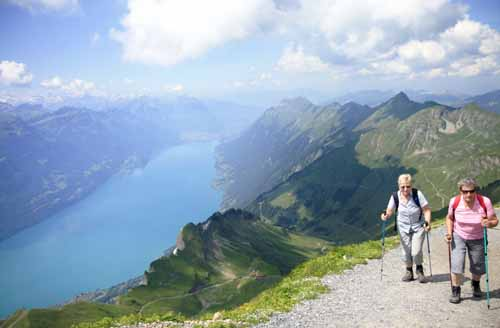 Suiza Rothorn panoramica senderismo