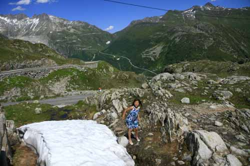 Suiza nieve verano Grimsel pass