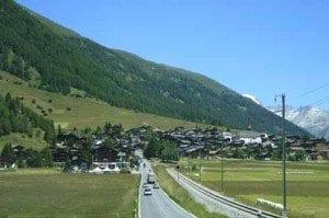 Suiza paisaje carretera