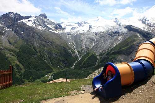 Suiza Saas Fee Bergrestaurant Hannig