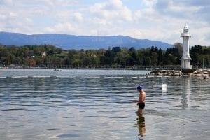 Un baño en el lago Leman