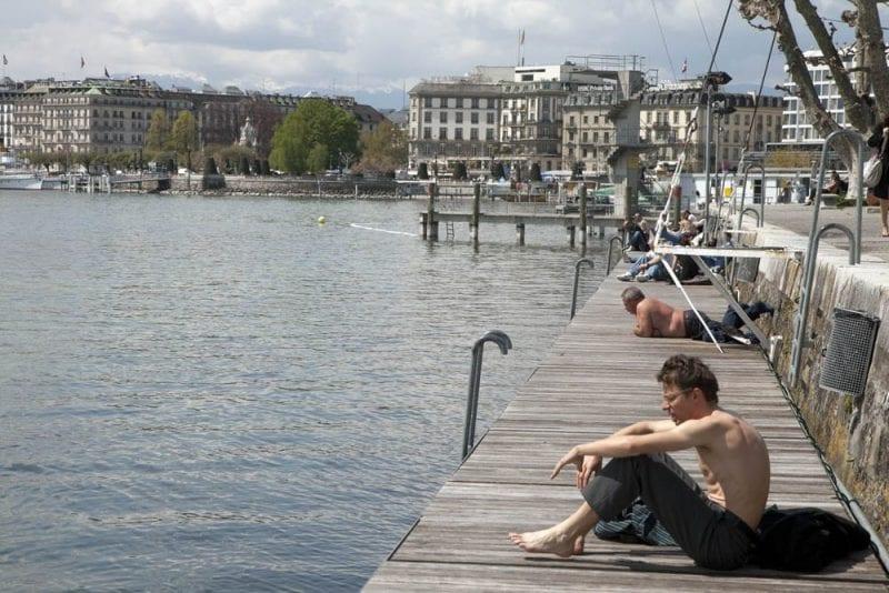 Los baños de Pâquis, imprescindibles en verano