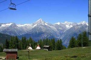 suiza Grachen tipis paisaje