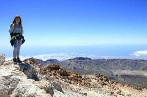 La Viajera Empedernida en la cumbre del Teide