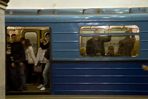 Moscu metro tren blog estacion