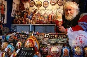 Moscu puesto matriuskas calle arbat blog