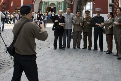 Moscu Lenin y Stalin en la Plaza Roja
