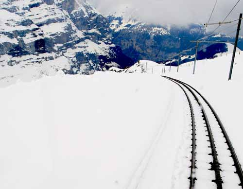 Suiza jungfrau via tren nieve