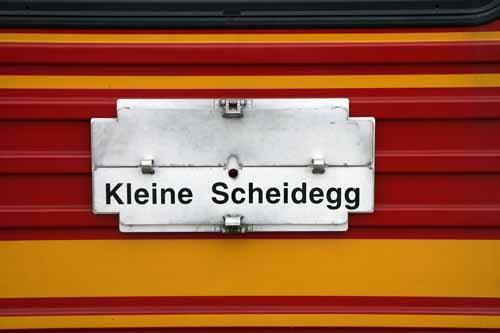 Suiza tren jungfrau kleine scheide