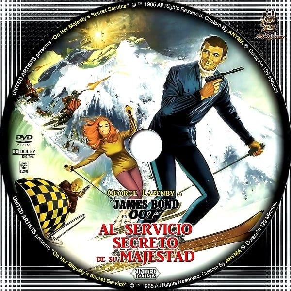 """Carátula de """"James Bond al servicio secreto de su majestad"""""""