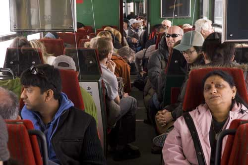 suiza indios turistas tren Jungfrau