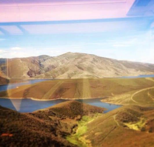 Paisaje de Galicia, España, desde el tren