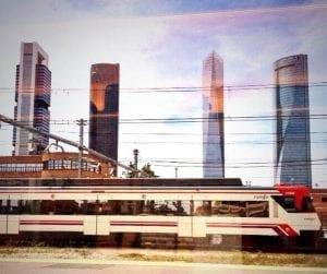 Tren llegando a Madrid