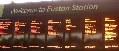 Euston station blog