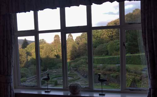 Vistas desde habitación del Penmaenuchaf Hall Hotel, en Dolgellau