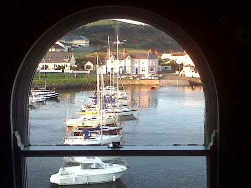 vistas desde el Harbourmaster Hotel, en Aberaeron