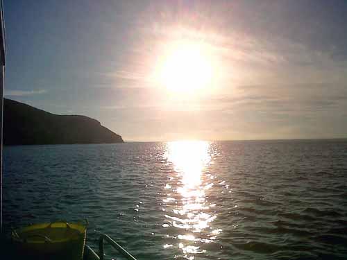 Foto atardecer en New Quay