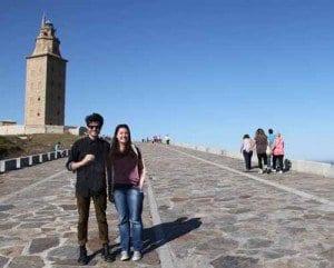 Megan y Tag torre hercules Coruña