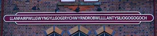 Estación del tren del pueblo galés con el topónimo mas largo del mundo