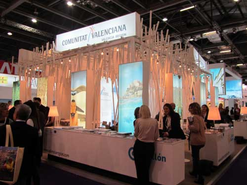 Stand de Valencia en la World Travel Market (WTM) de Londres 2011