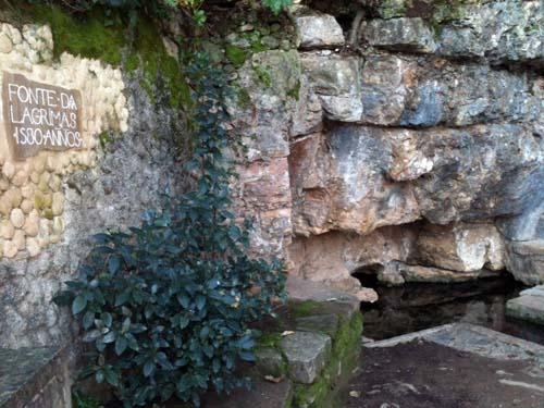 Fuente das lagrimas en Coimbra, donde asesinaron a Inés de Castro