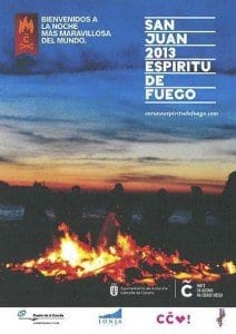Fiesta hogueras de San Juan A Coruña 2013