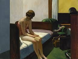 Mujer solitaria en cuadro de Hopper