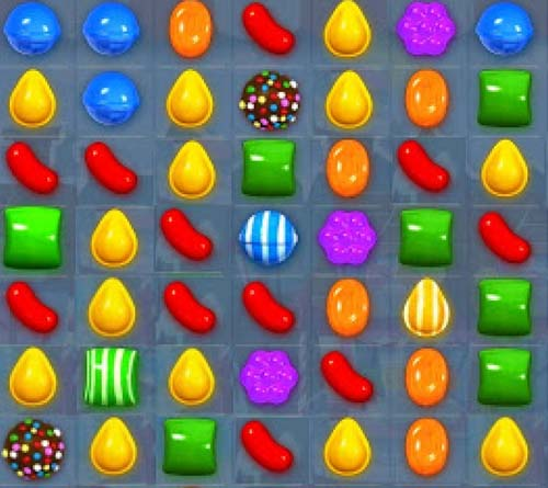 Captura del juego candy crush