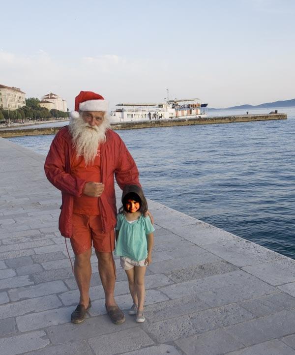 Croacia Zadar Papa Noel blog