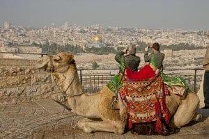panoramica de Jeruslén desde el mítico Monte de los Olivos