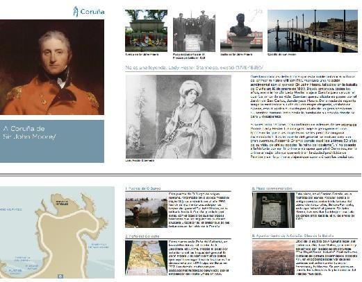 Folleto sobre Sir John Moore editado por Turismo de A Coruña