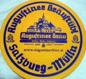 El posavasos de la cervecería Augustiner de Salzburgo