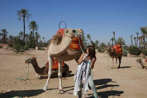 Marrakech camellos susto blog