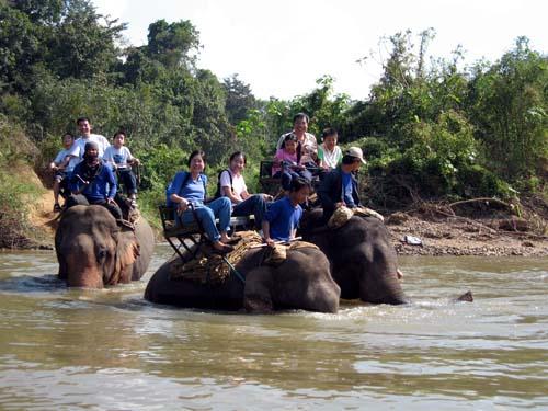 Paseo en elefante en Tailandia