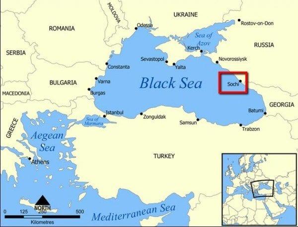 sochi mapa Dónde está Sochi, sede de las Olimpiadas de invierno 2014? sochi mapa