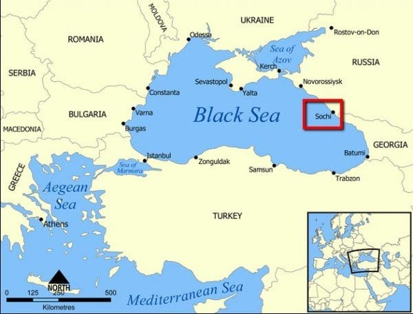 sochi mapa rusia
