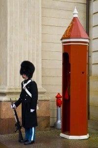 Detalle soldado del palacio Real