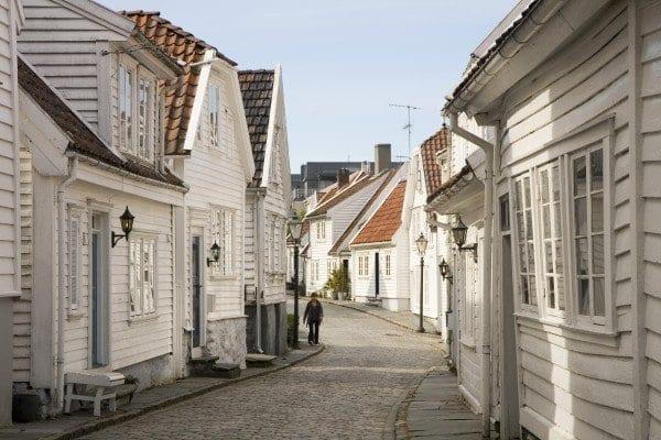 Casas en el casco viejo de Stavanger