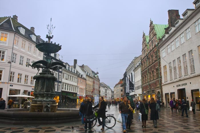Calle Stroget, en Copenhague
