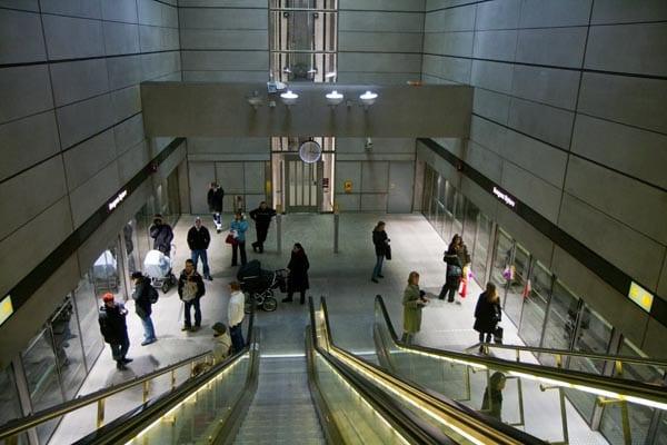 Detalle de una estación de metro en Copenhague